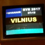 Vuelo movido hacia Vilna y llegada a Lituania