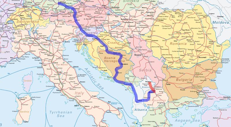 Recorrido Inter-Rail por Macedonia y Kosovo