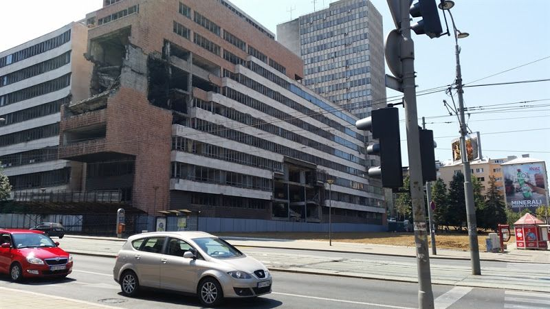 Edificios bombardeados OTAN en Belgrado