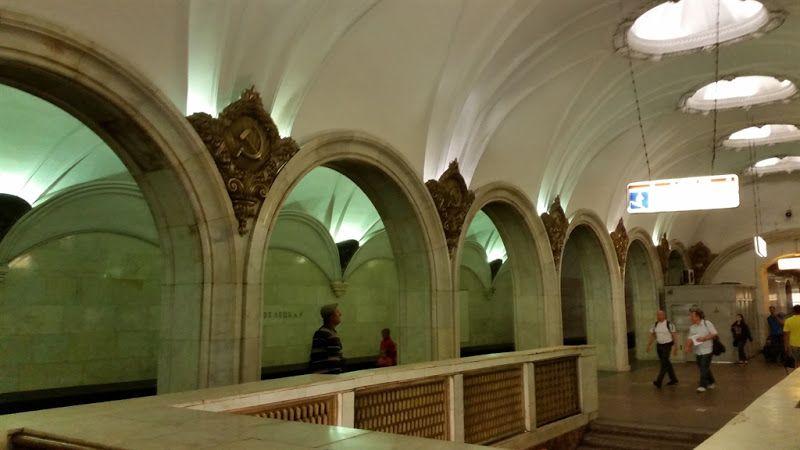 Simbolos sovieticos metro Moscu