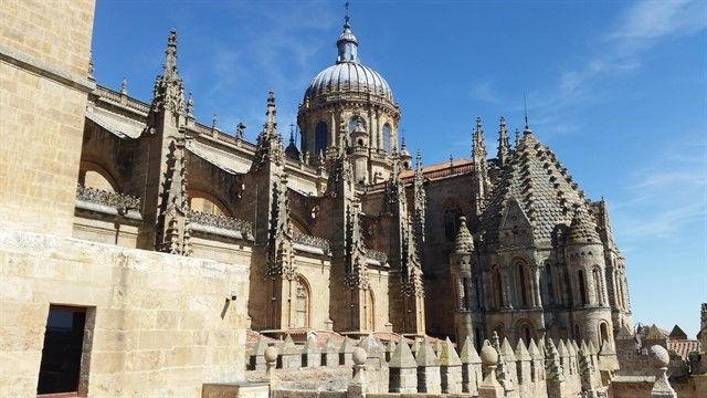 Parte alta catedral de Salamanca