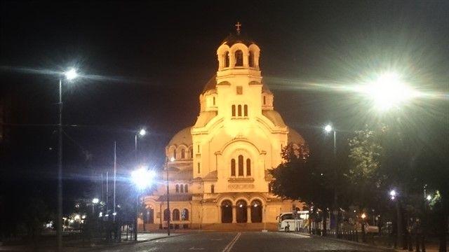 Catedral Alexander Nevski Sofia noche
