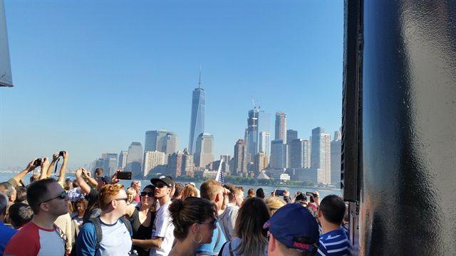 Ferry de Manhattan a isla de la Libertad