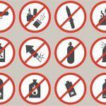 Artículos prohibidos en el equipaje de mano en el avión (y permitidos)
