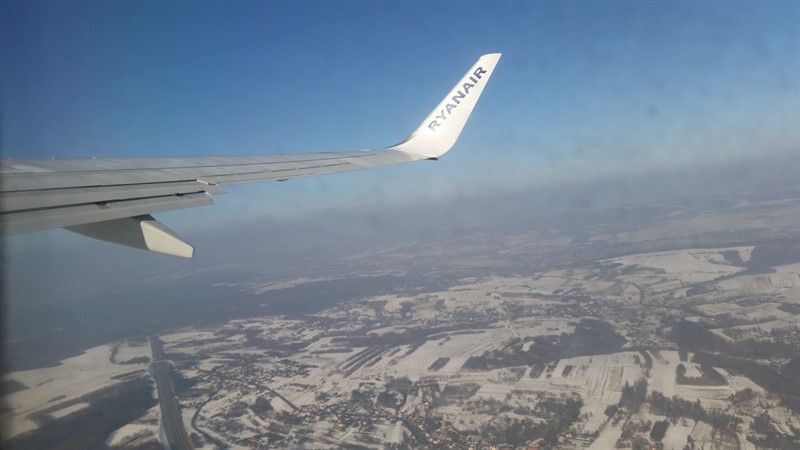 Vuelo Ryanair sobrevolando Polonia