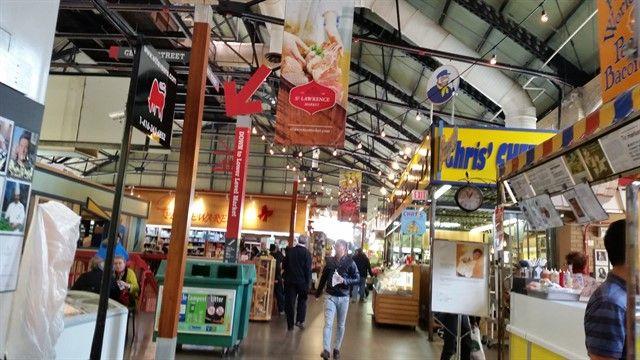 Interior del mercado de Toronto