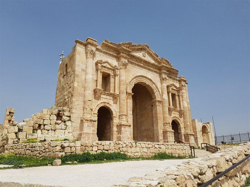 Arco de Adriano, la puerta de entrada a Jerash
