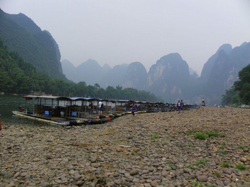 barcas bambú rio li yangdi