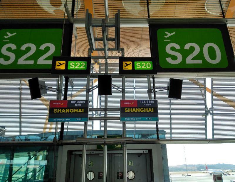 aeropuerto madrid barajas shanghai iberia