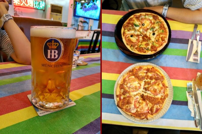 pizza cerveza yangshuo china