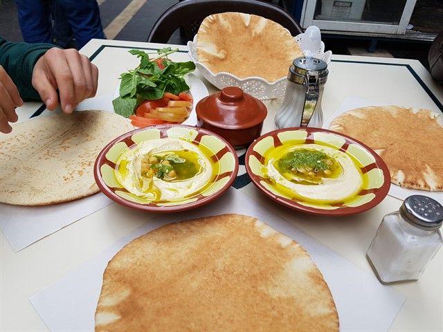 Hummus, una comida típica en Jordania