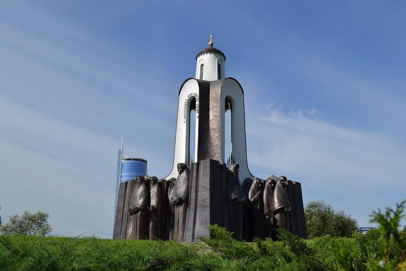 monumento isla de las lagrimas minsk bielorrusia
