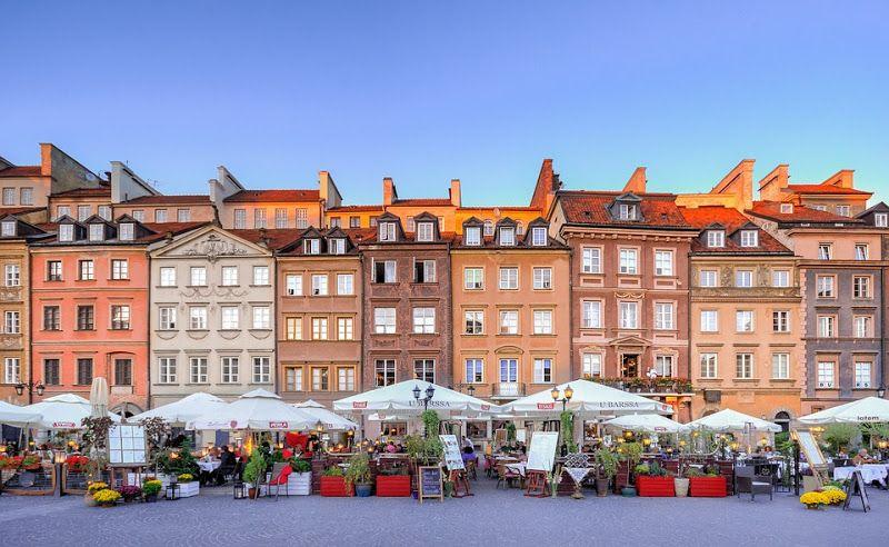Plaza del Mercado del casco antiguo de Varsovia