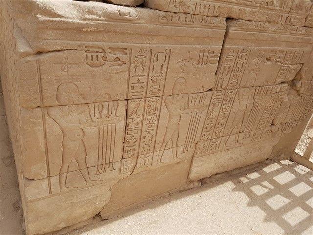Jeroglíficos en el templo de Karnak
