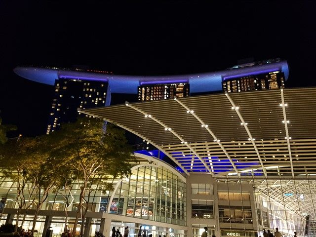 Hotel Marina Bay Sands de noche