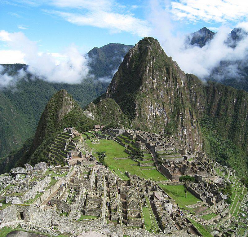 La antigua ciudad inca de Machu Picchu
