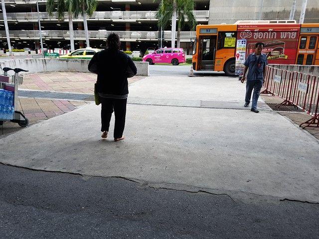 Parada del bus S1 en Suvarnabhumi