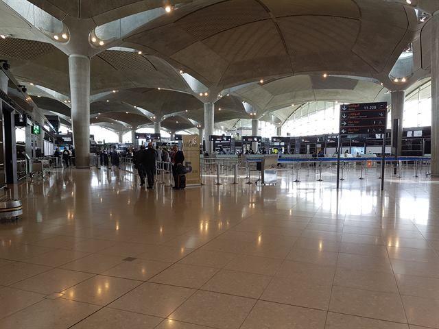 Interior del aeropuerto de Amán