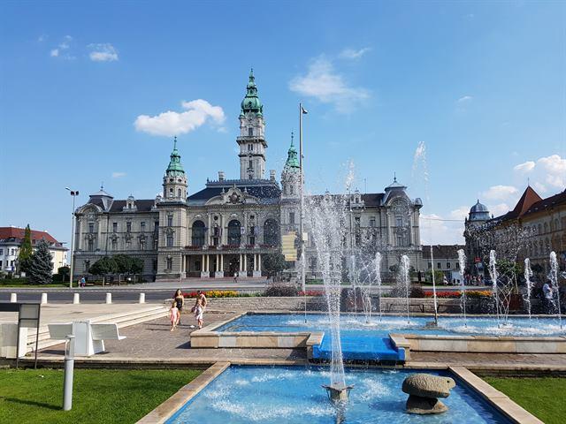 Ayuntamiento de Gyor, en Hungría
