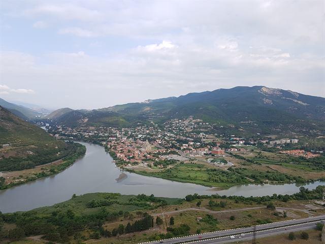Vistas de Mtskheta desde el monasterio de Jvari