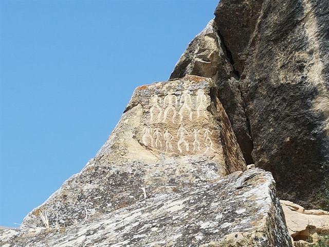 Pinturas rupestres en el Parque Nacional de Gobustán