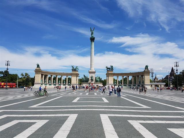 Plaza de los Héroes, en Budapest