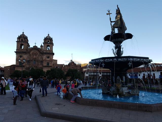 Plaza de Armas de Cuzco, lugar para cambiar moneda en Perú
