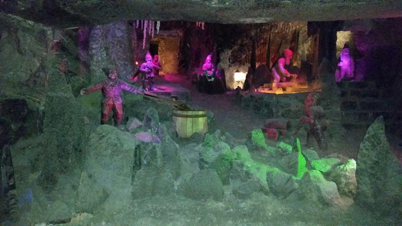 Interior de las minas de sal de Cracovia