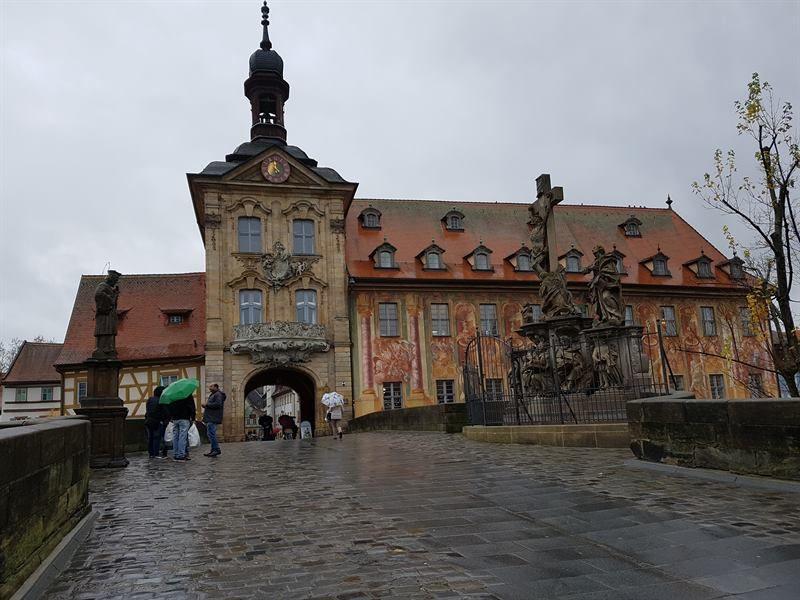 Ayuntamiento Viejo de Bamberg desde el puente