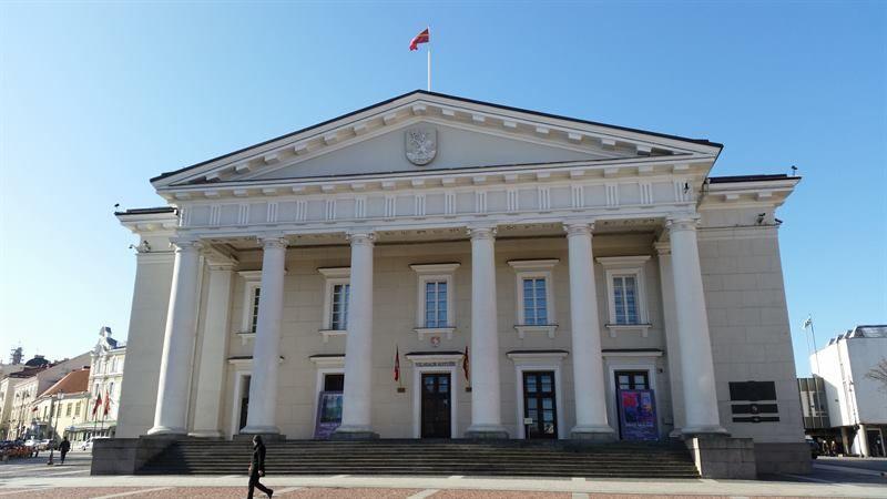 Ayuntamiento de Vilna, en Lituania