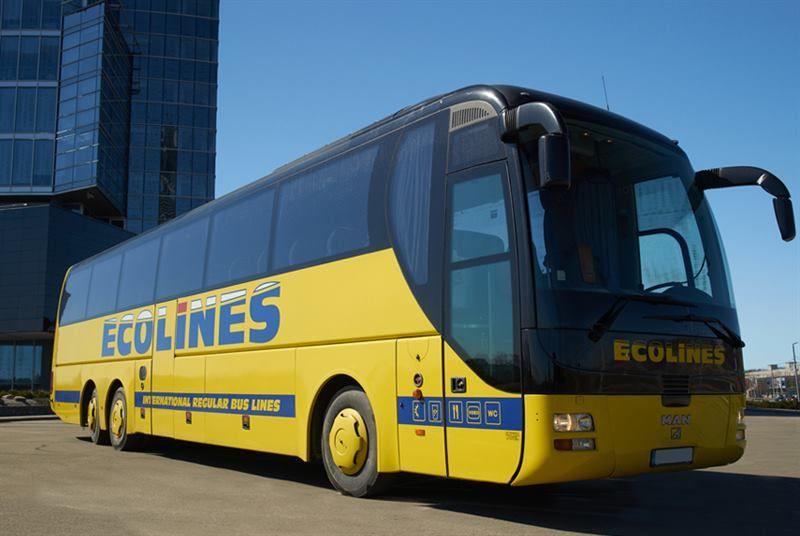Bus de Ecoline, transporte para moverse por Lituania, Letonia y Estonia