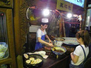 Molletes de carne en el barrio musulman xian