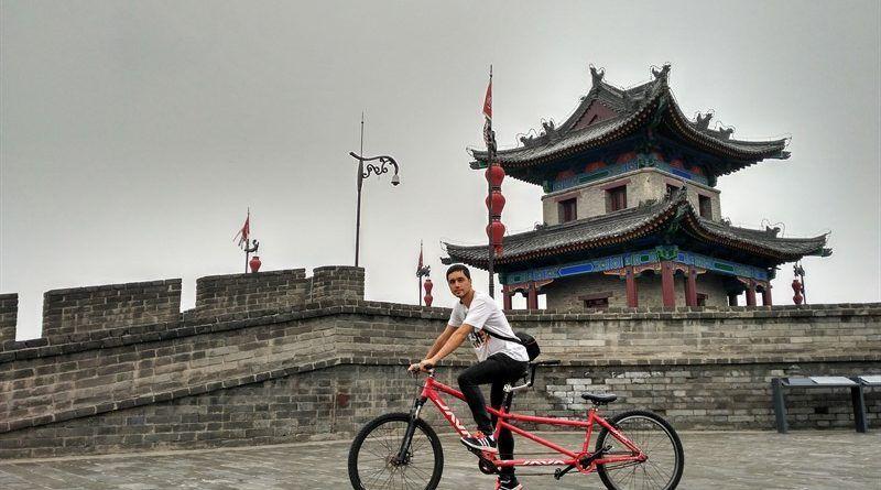 Muralla de Xian en bicicleta
