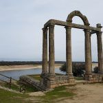 Ruinas romanas de Augustóbriga, lo único que queda de una ciudad sumergida