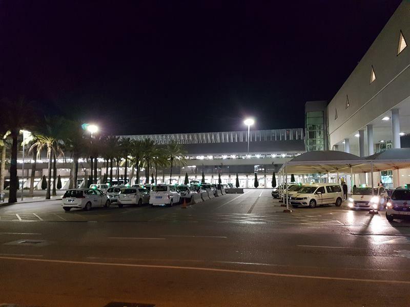 Taxis en el aeropuerto de Mallorca