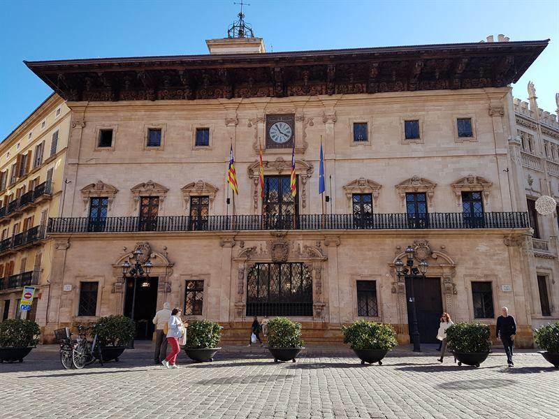 Ayuntamiento de Palma, en la plaza de la Corte