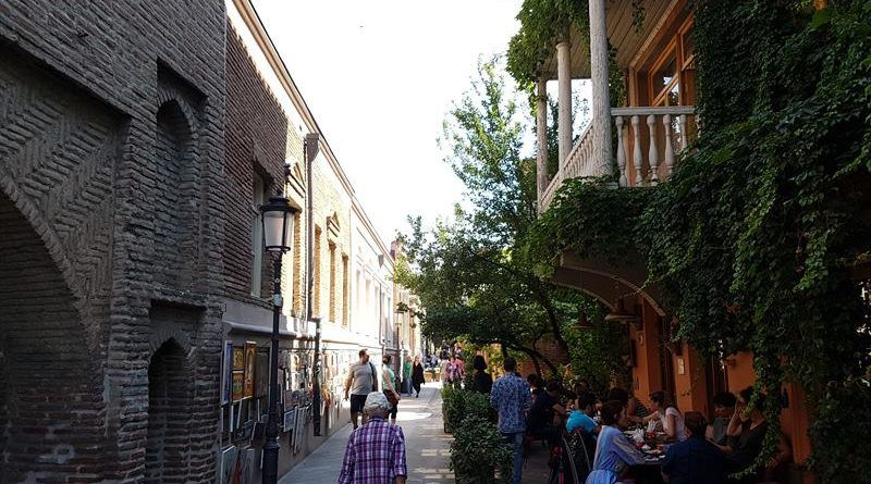 Centro de Tiflis, lugar donde cambiar moneda en Georgia