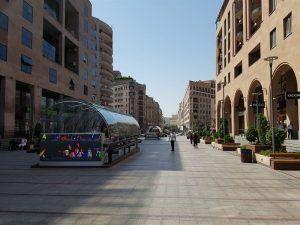 Centro de Ereván, una zona donde cambiar moneda en Armenia