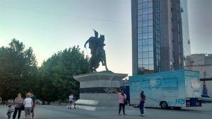 Estatua de Skanderbeg, en Kosovo
