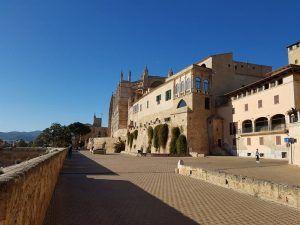 Parte de las antiguas murallas de Palma de Mallorca
