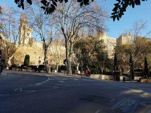 Vistas del exterior del Palacio Real de la Almudaina