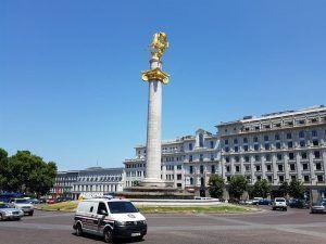 Plaza de la Libertad, destino para ir del aeropuerto de Tiflis al centro