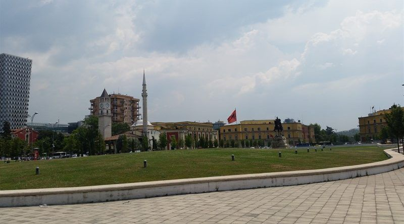 Plaza de Skanderbeg, en Tirana