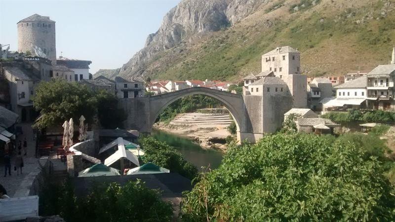 El puente de Móstar en Bosnia-Herzegovina