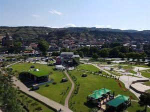 Vistas de Tiflis, en Georgia