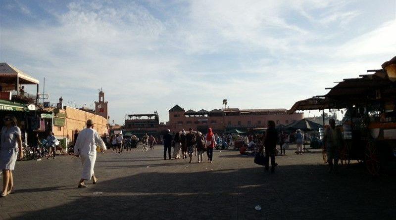 Plaza Jamaa el Fna, donde cambiar moneda en Marruecos