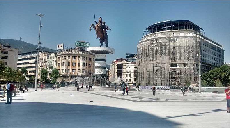 Estatua del Guerrero a Caballo, en la Plaza de Macedonia