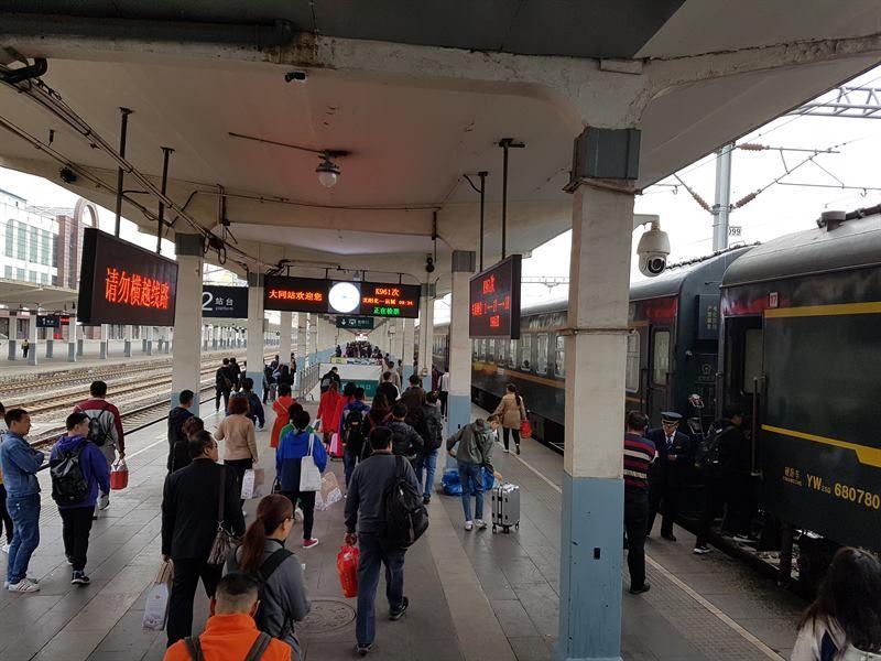 El tren, lo mejor para moverse por libre por China