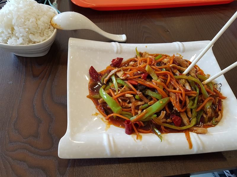 Primera comida en China