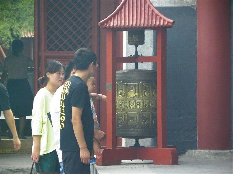 rueda de plegaria templo de los lamas pekin